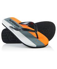 New Mens Superdry Sleek Flip Flops Black