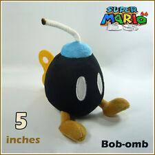 Super Mario Bros Plush Bob-omb Bomb Soft Toy Nintendo Stuffed Animal Teddy Black