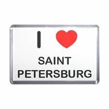 I Love Saint Petersburg - Plastic Fridge Magnet - Decoration Fun BadgeBeast