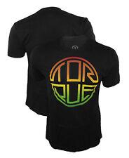 Torque Infinity Rasta Black T-Shirt UFC Urijah Faber Skate BJJ Surf Bob Marley