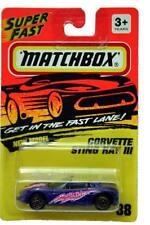 1993 Matchbox #38 Superfast Corvette Sting Ray III gold wheels