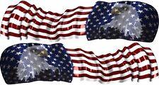 American Flag Eagle vinyl graphic decal helmet