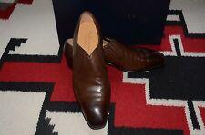 Ralph Lauren Purple Label Edward Green Garrick Brown Dress Loafer Shoes