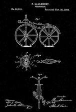 1866 - Velocipede - P. Lallement - Patent Art Poster