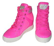 Damen Stiefeletten Blockabsatz High Heels Strass 77548 Schuhe