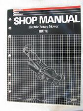 Honda Electric Rotary Mower Shop Manual HR17E