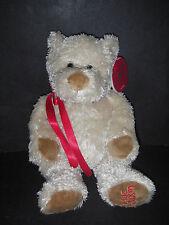 """PLUSH Stuffed La Senza 2004 Annual Teddy Bear AUDREY beige 13"""" w Tag w chocker"""