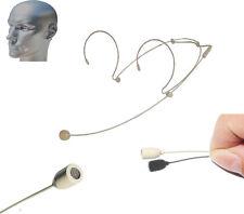 PRO DUAL EARHOOK HEADSET HEAD MICROPHONES FOR WIRELESS MIC BODYPACK SYSTEM