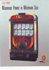 CD Feuer Firebird Wand Box von NSM Löwen 1989 orig NOS Jukebox Verkauf Flyer Broschüre