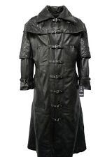 New Men's Black Coat Captain Van Helsing Style Real Soft Nappa Leather Jacket