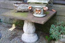 steintisch roter sandstein steinguß Tisch Gartenmöbel gardentable Table