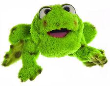 Handpuppe großer Frosch Rolf grün Therapiepuppe grüne Plüschtier Handspielpuppe