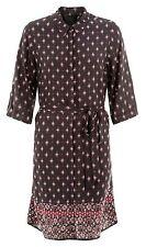 Ex new look noir gipsy tile imprimé tunique robe chemise taille 6 8 10 12 14 16