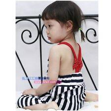 Kids Girl Sleeveless Striped Knit Cotton Dress size 0/1/2/3/4