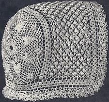 Vintage Antique Crochet PATTERN Baby Cap Hat Bonnet*W6