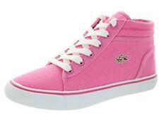 Lacoste Popstop IDS SPJ # 7-28SPJ004113C Mid Top Canvas Sneaker Big Kids 3.5 - 7