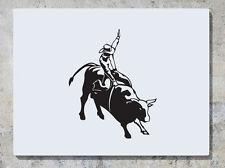 Bulldog montant Rodéo - Animal AUTOCOLLANT autocollant Art mur image