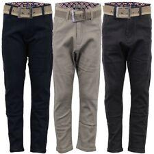 Garçons Enfants slim fit jeans jean homme Ceinture gratuite