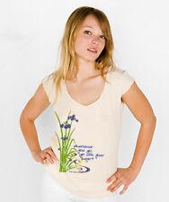 NEW Buddha yoga purple IRIS American Apparel short sleeve shirt top