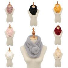Women Ladies Winter Faux Fur Pom Pom Snood Scarf Neck Warmer Wrap Collar
