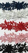 Floral Motif Lace Applique Trim Polyester Lady Dress  23*7 cm