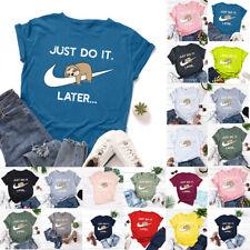Womens Crew Neck Basic T Shirt Blouse Ladies T-Shirt Tops Tee Plus Size 6-24