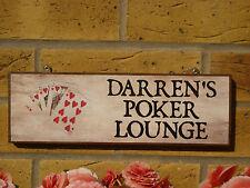 Signo de póker Personalizada cobertizo Signo Signo al aire libre tarjetas de fichas para poker signo de sala de juegos