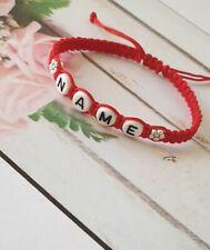 Personalised Girls Boys Friendship Bracelet Make Any Name Choice Letter