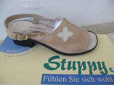 Stuppy Damen Sandale Sandalette Echtleder beige Neu!