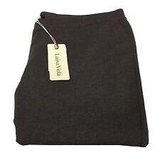 LUISA VIOLA leggings tejido jersey pesado marrón oscuro mélange 45% viscosa
