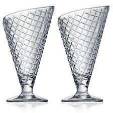 Bormioli Rocco Gelato Sundae Sorbet Cream Dessert Ice Glassware Bowl Cone Design