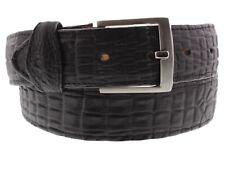 Men's Real Leather Crocodile Belly Black Belt Cowboy Western Rodeo Wear