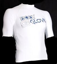 BODY GLOVE Rash Guard BASIC Men WHITE Lycra Hemd Wakeboard Kiten Surfen T shirt