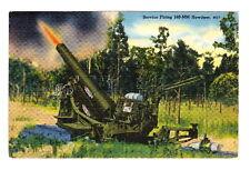 SERVICE FIRING 240mm HOWITZER - WW2 G.I. POSTCARD