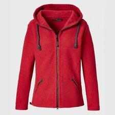 Mufflon Kapuzen-Wolljacke Line für Damen  vulkan  rot
