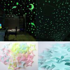 Mauer Glühen Im Dunkeln Stern-Aufkleber Schlafzimmer Nursery Zimmer Decke Dekor