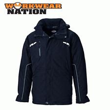 Dickies Trabajo Workwear Atherton Impermeable Chaqueta Abrigo Negro