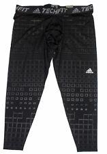Adidas Men's Training Techfit Baselayer Compression Long Tight Pants, Black, 3XL