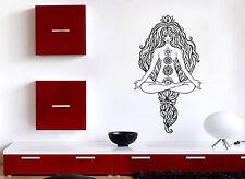 Vinyl Decal Wall Sticker Beautiful Girl Gorgeous Hair Pose Yoga Lotus (n762)