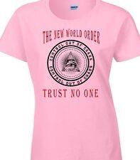 Mundo Orden camiseta Mujer Illuminati Conspiración Política Grupo