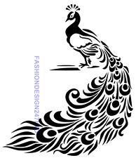 ANIMAL BIRD PEACOCK MYLAR STENCIL HOME DECOR PAINTING WALL ART 125/190 MICRON