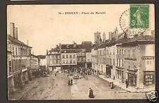 """STENAY (55) Marché & Commerces """"Papeterie E. MARTINOT"""" Café du Centre animé 1914"""