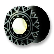 6mm - 22mm CORNO Bone MADREPERLA chirurgico Flesh Tunnel Ear Plug Orecchio Piercing 315