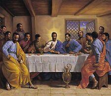 THE LAST SUPPER BLACK JESUS POSTER BY SARAH JENKINS AFRICAN AMERICAN ART PRINT