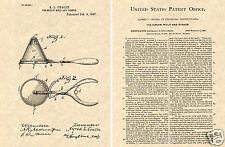 Ice Cream Scoop US Patent Art Print READY TO FRAME! Vintage 1897 Antique