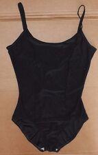 NWOT Dance Classic Camisole Leotard Front Lined Black Spandex Ladies Large
