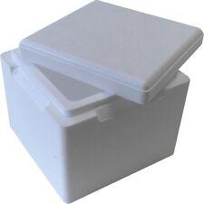 Isolierbox mit Deckel 3,5L (225x225x195 mm) / Styroporbox Kühlbox Thermobox