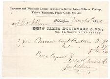 1692 James M'Clintock hosiery, gloves 1846 billhead Philadelphia George Besone