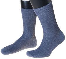 5 Pares calcetines de hombre, sin goma, extra ancho, con lana, hecho en Alemania
