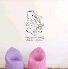 Winnie the Pooh quote wall art sticker Children's Bedroom nursery newborn diy